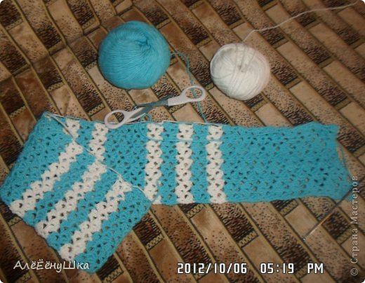 шарф и берет для дочки (с описанием) фото 15