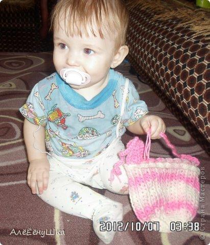 малышкины шапочка и шарфик)) фото 8