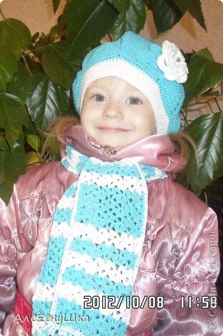шарф и берет для дочки (с описанием) фото 19