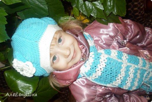 шарф и берет для дочки (с описанием) фото 20