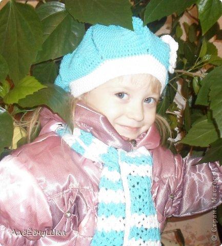 шарф и берет для дочки (с описанием) фото 1