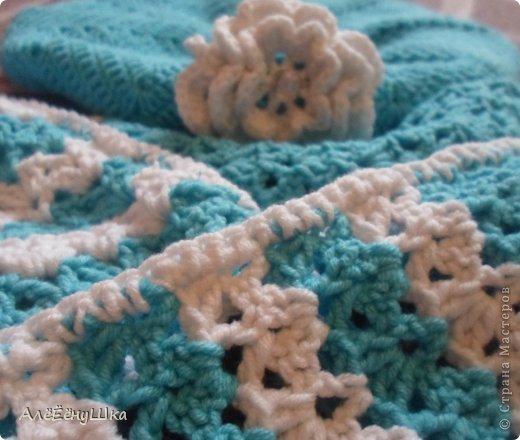 шарф и берет для дочки (с описанием) фото 18
