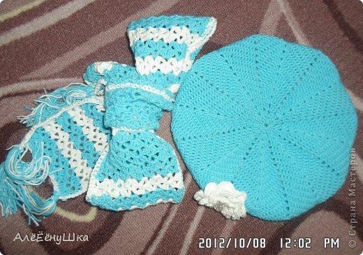 шарф и берет для дочки (с описанием) фото 17
