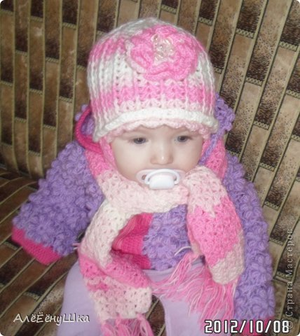 малышкины шапочка и шарфик)) фото 11