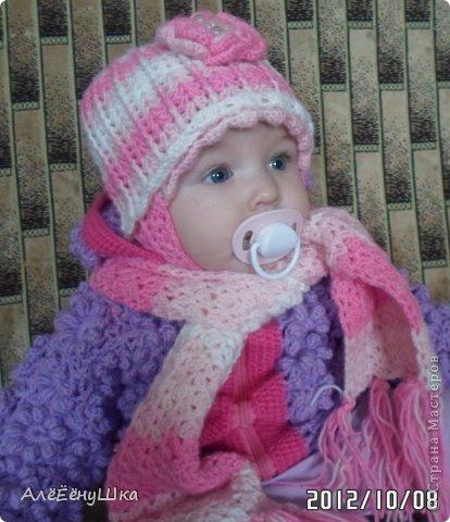 малышкины шапочка и шарфик)) фото 1