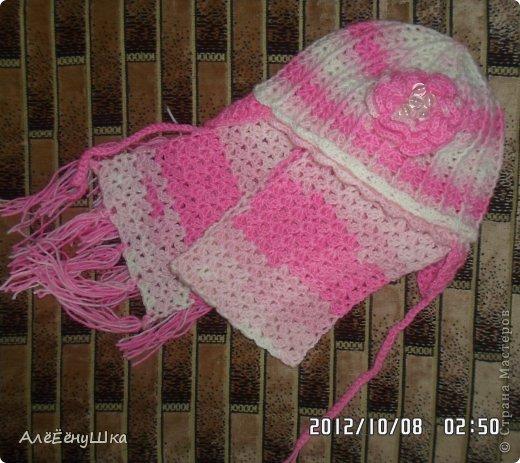 малышкины шапочка и шарфик)) фото 2