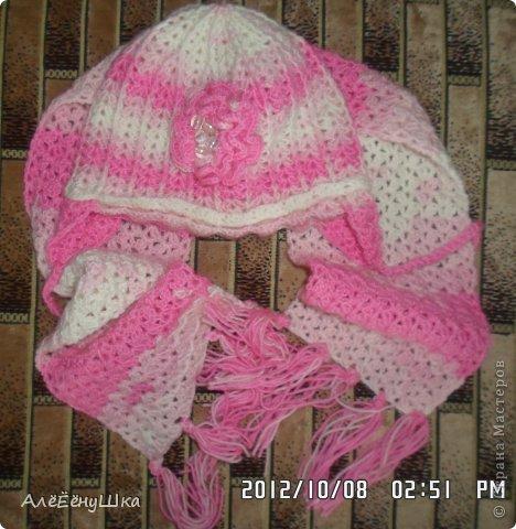 малышкины шапочка и шарфик)) фото 10