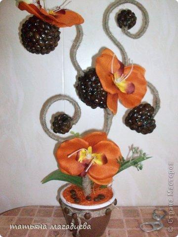 Давно хотела повторить что нибудь из работ Лены Балбекиной,вот выставляю на ваш суд жалкую попытку. Повторить конечно не удалось,но мне очень эта красотка орхидея-кофейная нравится.))) фото 5