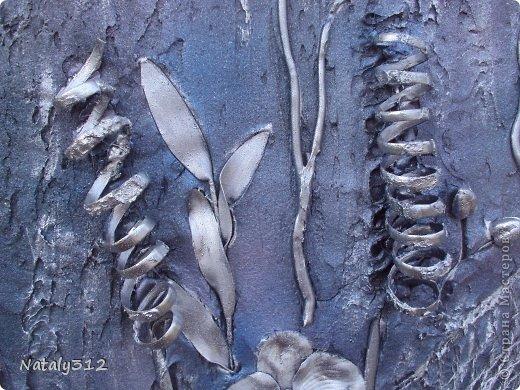 Размер панно 120 Х 60 Х 5 см. Выполнено на пеноплексе. Не гипс, а шпаклевка. Орхидеи искусственные, ткань. фото 7