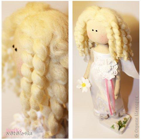 Как-то странно у меня создавалась эта кукла... Хотела что-то современное, девочку в джинсиках и стильной курточке... ну никак она  не давалась в этот образ ))) Сказала- хочу быть ангелом и все тут!!! Ну ангел, так ангел... Мое дело маленькое ;))) И я так прониклась к этому образу... Не могу налюбоваться ))) Минимум деталей, все как я люблю.... фото 2