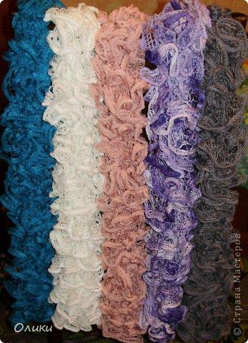 Вот такие шарфики у меня связались на заказ. фото 1