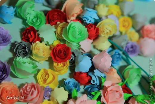 """Ну конечно же не розовый в смысле цвета, а розовый в смысле цветов :)))) а началось всё ооочень просто... с неумения и желания научиться..  в итоге самые простые в исполнении оказались спиральные розы, причём попробовала делать такие цвета как серо-коричневый... синий и бирюзовый... эти открытки как следствие попытки применить цветы необычного цвета. Начала со """"шкатулки"""" почему в кавычках, не знаю как назвать коробчёнку :) сотворилась, живёт на полке, наверное детям в итоге достанется.. крышка в виде шляпки, неровно я к шляпкам дышу :) давно собиралась, а тут такой случай замечательный :) :) :) с открытками совпадение только по цветовой гамме, не комплект вовсе, и из разных материалов.. и вообще.. :) фото 15"""