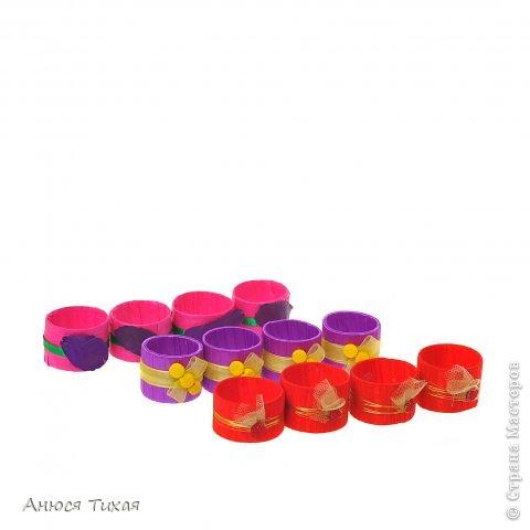 Колечки для салфеток) Представлены по одному из каждого набора) В наборе 6 штук) фото 2