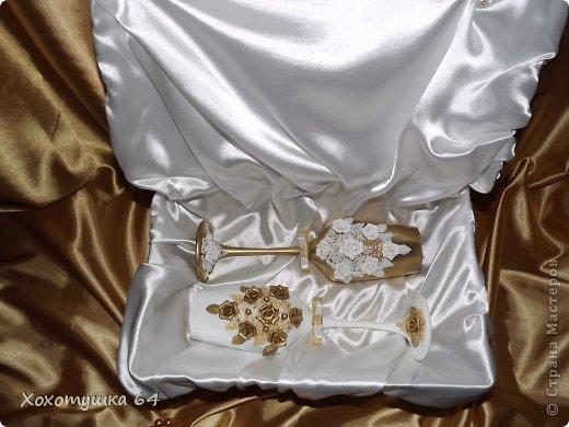 Доброго времени суток!!! Наблюдаю за сайтом больше года. На днях доделала свадебный набор. Вынашивала идею около полугода. И вот, на свет родился этот набор. Спасибо огромное мастерицам-вдохновителям!!! Фото будет много, приятного просмотра :) фото 4