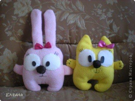 Здравствуйте все, кто зашел на мою страничку! Вот на такие замечательные мягкие игрушки я вдохновилась, посетив блоги Ольги Романовой и Дашули Гущиной! А главное, эти пухляшки очень понравились моим детям! фото 3