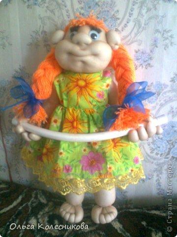 Очень мне понравились куклы для полотенца у разных мастериц, я решила создать свою в подарок маме на день рождения. фото 3