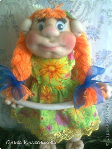 Очень мне понравились куклы для полотенца у разных мастериц, я решила создать свою в подарок маме на день рождения. фото 4