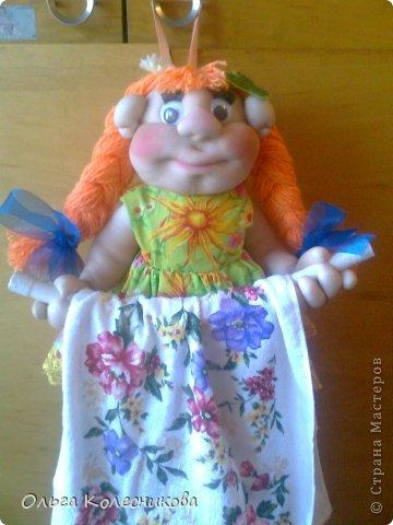 Очень мне понравились куклы для полотенца у разных мастериц, я решила создать свою в подарок маме на день рождения. фото 1