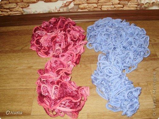 Вот такие шарфики у меня связались на заказ. фото 2