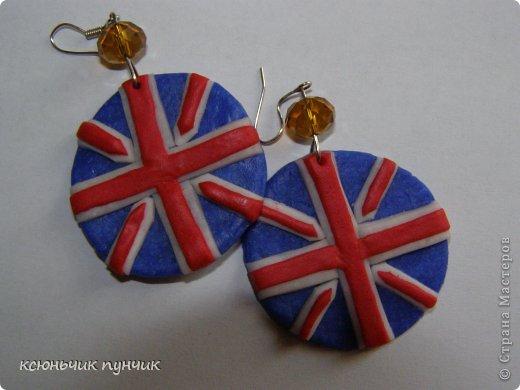 London))серьги из полимерной глины♥