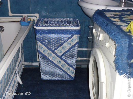 Интерьер Плетение Продолжение переделки в ванной   Бумага фото 2