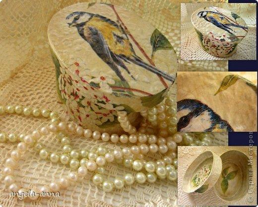 папье маше,салфетка,2-х шаговый кракелюр,антик паста,тени для век,финишный лак фото 1