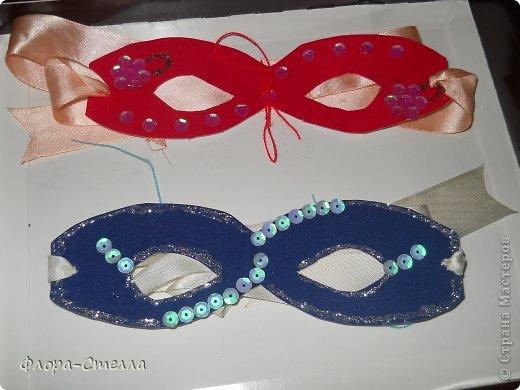 Мои первые новогодние маски.