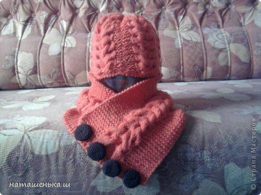 Зимний комплект (шапочка с шарфом)