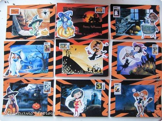 Ведьмочки-метлы-тыковки... Вот такие карточки АТС мне навеял предстоящий праздник Хэллоуин - канун Дня всех святых))) фото 1