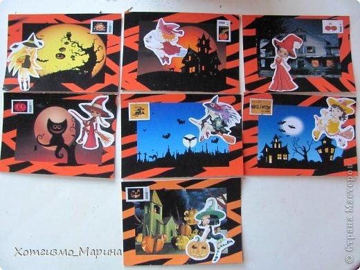 Ведьмочки-метлы-тыковки... Вот такие карточки АТС мне навеял предстоящий праздник Хэллоуин - канун Дня всех святых))) фото 2