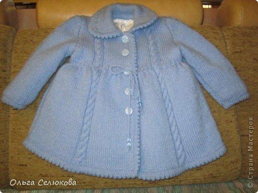 Для любимой внучки в подарок решила связать пальтишко и шапочку. Своё произведение выношу на ваш строгий суд. фото 3
