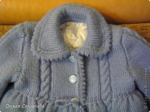 Для любимой внучки в подарок решила связать пальтишко и шапочку. Своё произведение выношу на ваш строгий суд. фото 4