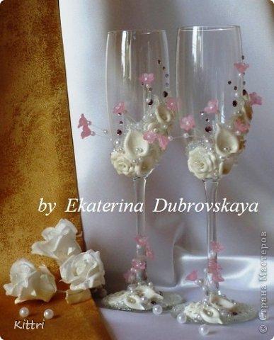 """Свадебные бокалы """"Флоранс"""" фото 1"""