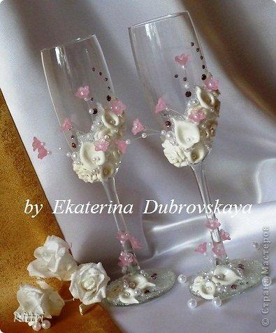 """Свадебные бокалы """"Флоранс"""" фото 2"""