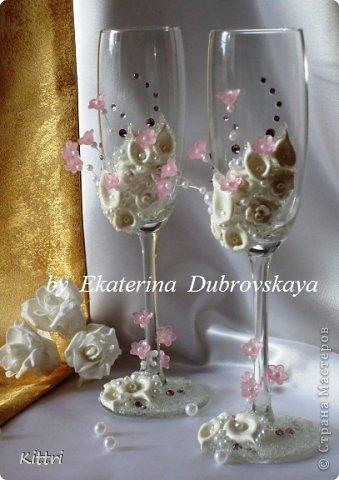 """Свадебные бокалы """"Флоранс"""" фото 6"""