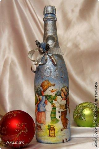 Бутылка для Нового года. Приятный подарочек))) фото 1