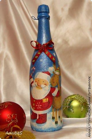 Бутылка для Нового года. Приятный подарочек))) фото 2