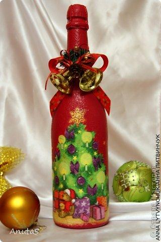Бутылка для Нового года. Приятный подарочек))) фото 3