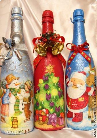 Бутылка для Нового года. Приятный подарочек))) фото 4