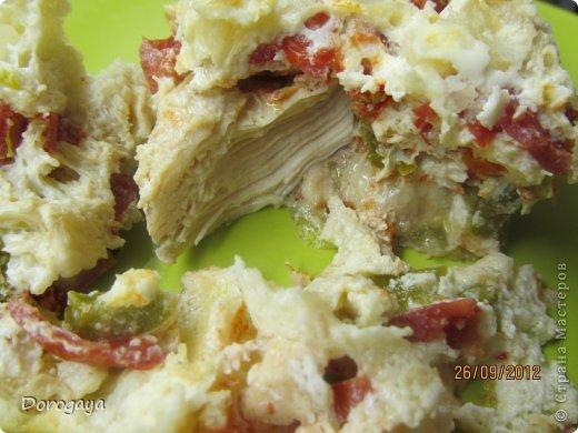 Курица, запеченная в омлете фото 11