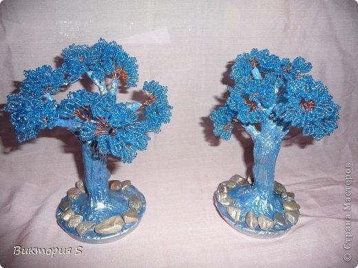 Подарили двум любимым учительницам на день Учителя деревца бисерные.  фото 1