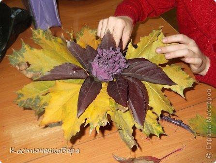 цветы из листьев фото: