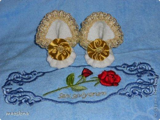 Нарядные пинетки для юной принцессы  фото 1