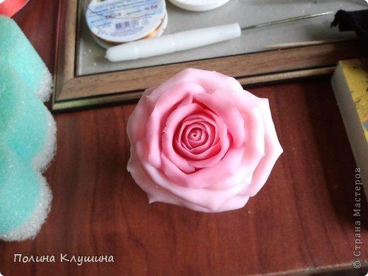 Моя вторая роза их холодного фарфора фото 3