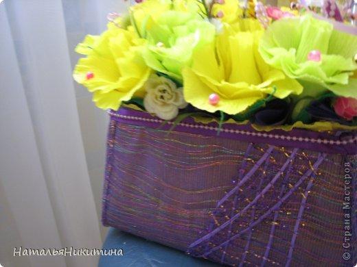Вот, сделала пробную сумочку с конфетками. Делала впервые, без повода, для пробы... Просто купила желтой бумаги. фото 4