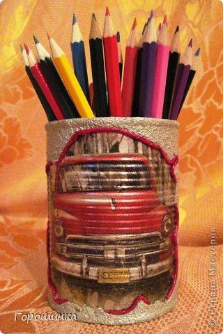 Эта карандашница сделана по просьбе моего сына в дополнение к его основному подарку на День рождения фото 1