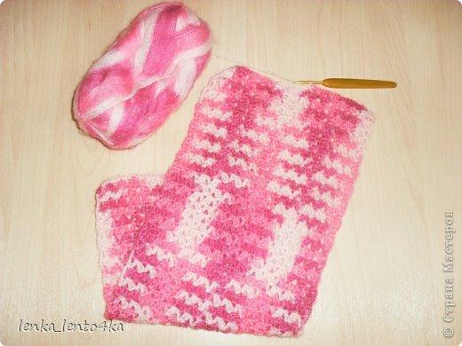 Берет и шарфик для дочки  фото 5