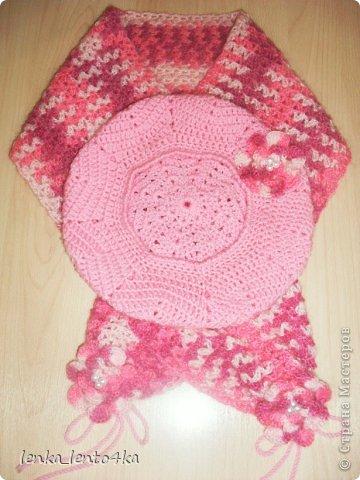 Берет и шарфик для дочки  фото 1