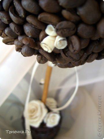 """Вот и я решила окунуться в кофейный сад. Причина - день рождения очень замечательного человечка, доброго и """"теплого"""". Кухня у нее в бежево-коричневых тонах. Поковырялась в своих запасах, нашла кофе и бежевые розы из фарфора (при варке добавила крем для тела бежевого цвета, получился приятный теплый оттенок и запах). В общем Я осталась ооочень довольна!!!!! Надеюсь, что имениннице тоже понравится! Единственное, что печально, когда работаю с кофе, болит голова (( Ну и муторно, конечно, но тем и ценна ручная работа)) фото 6"""