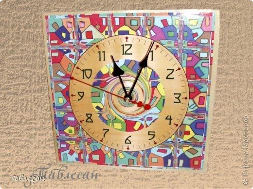 """Часы """"Хундертвассер в стиле Фрей Вилл в моей интерпретации"""" фото 6"""